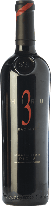 115,95 € | Red wine Luis Cañas Hiru 3 Racimos Crianza 2009 D.O.Ca. Rioja The Rioja Spain Tempranillo Bottle 75 cl