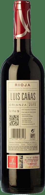 11,95 € Free Shipping   Red wine Luis Cañas Crianza D.O.Ca. Rioja The Rioja Spain Tempranillo, Grenache Bottle 75 cl