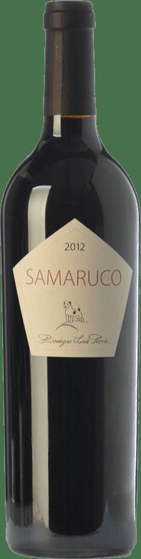 21,95 € Free Shipping | Red wine Luis Pérez Samaruco Crianza I.G.P. Vino de la Tierra de Cádiz Andalusia Spain Merlot, Syrah Bottle 75 cl
