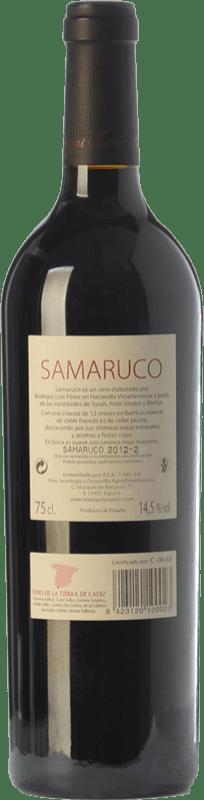 19,95 € Free Shipping | Red wine Luis Pérez Samaruco Crianza I.G.P. Vino de la Tierra de Cádiz Andalusia Spain Merlot, Syrah Bottle 75 cl