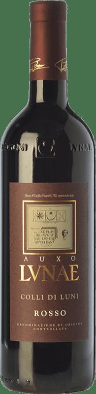 12,95 € Free Shipping | Red wine Lunae Auxo D.O.C. Colli di Luni Liguria Italy Sangiovese, Canaiolo, Ciliegiolo Bottle 75 cl