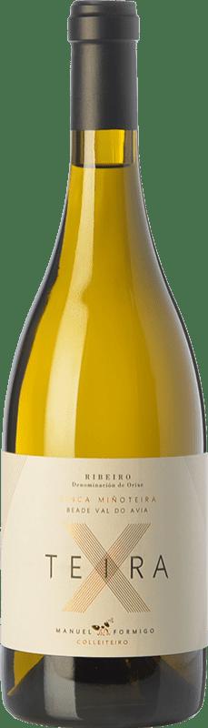 23,95 € Free Shipping | White wine Formigo Teira X D.O. Ribeiro Galicia Spain Albillo, Loureiro, Treixadura, Albariño Bottle 75 cl