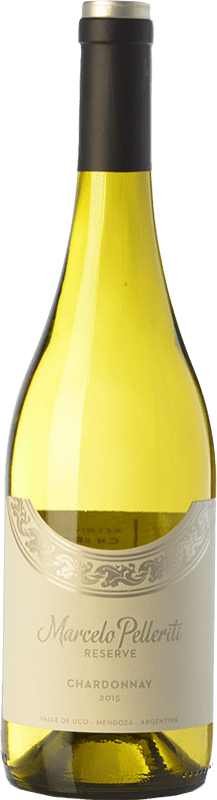 19,95 € 免费送货 | 白酒 Pelleriti Reserve Crianza I.G. Valle de Uco Uco谷 阿根廷 Chardonnay 瓶子 75 cl