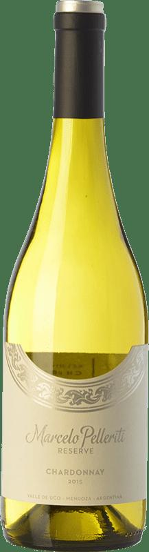 19,95 € Envío gratis | Vino blanco Pelleriti Reserve Crianza I.G. Valle de Uco Valle de Uco Argentina Chardonnay Botella 75 cl