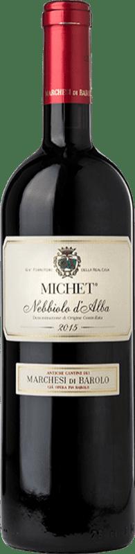 21,95 € Free Shipping | Red wine Marchesi di Barolo Michet D.O.C. Nebbiolo d'Alba Piemonte Italy Nebbiolo Bottle 75 cl