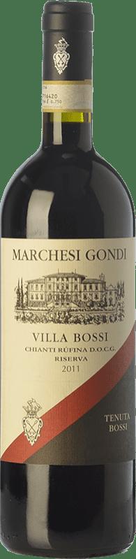 19,95 € | Red wine Marchesi Gondi Rufina Ris Villa Bossi D.O.C.G. Chianti Tuscany Italy Cabernet Sauvignon, Sangiovese, Colorino Bottle 75 cl