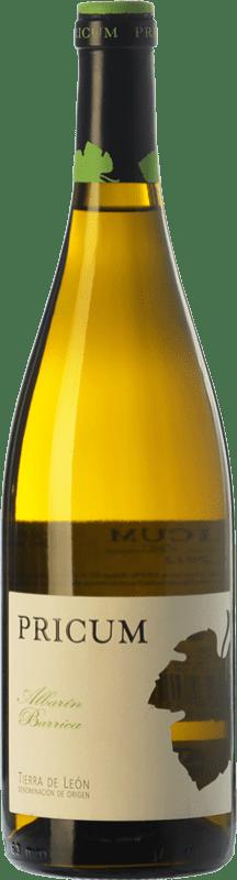 18,95 € Envío gratis | Vino blanco Margón Pricum Barrica Crianza D.O. León Castilla y León España Albarín Botella 75 cl