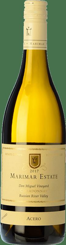 31,95 € 免费送货 | 白酒 Marimar Estate Acero I.G. Russian River Valley 俄罗斯河谷 美国 Chardonnay 瓶子 75 cl