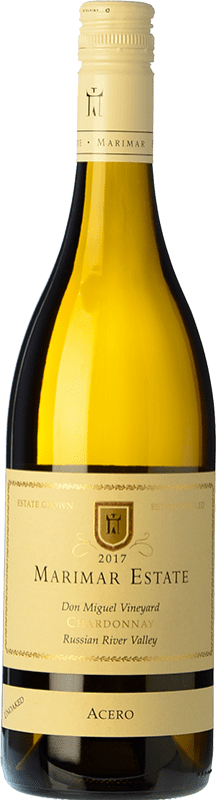 31,95 € Envío gratis | Vino blanco Marimar Estate Acero I.G. Russian River Valley Russian River Valley Estados Unidos Chardonnay Botella 75 cl