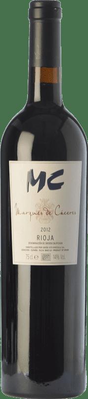 28,95 € 免费送货 | 红酒 Marqués de Cáceres MC Crianza D.O.Ca. Rioja 拉里奥哈 西班牙 Tempranillo 瓶子 75 cl