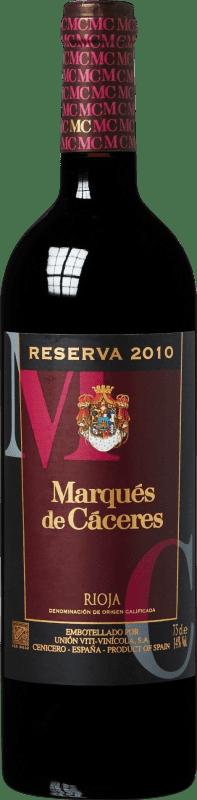 16,95 € 免费送货 | 红酒 Marqués de Cáceres Reserva D.O.Ca. Rioja 拉里奥哈 西班牙 Tempranillo, Grenache, Graciano 瓶子 75 cl