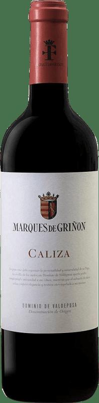 9,95 € Envío gratis | Vino tinto Marqués de Griñón Caliza Joven D.O.P. Vino de Pago Dominio de Valdepusa Castilla la Mancha España Syrah, Petit Verdot Botella 75 cl
