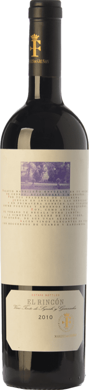 14,95 € 免费送货 | 红酒 Marqués de Griñón El Rincón Crianza D.O. Vinos de Madrid 马德里社区 西班牙 Syrah, Grenache 瓶子 75 cl
