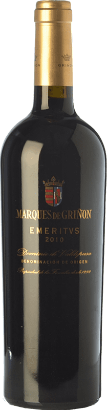 红酒 Marqués de Griñón Emeritus Crianza 2010 D.O.P. Vino de Pago Dominio de Valdepusa 卡斯蒂利亚 - 拉曼恰 西班牙 Syrah, Cabernet Sauvignon, Petit Verdot 瓶子 75 cl