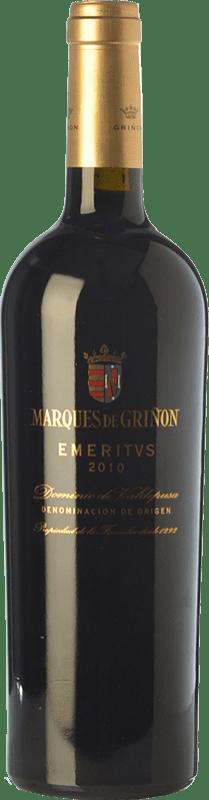 44,95 € 免费送货 | 红酒 Marqués de Griñón Emeritus Crianza D.O.P. Vino de Pago Dominio de Valdepusa 卡斯蒂利亚 - 拉曼恰 西班牙 Syrah, Cabernet Sauvignon, Petit Verdot 瓶子 75 cl