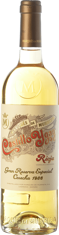 585,95 € Free Shipping | White wine Marqués de Murrieta Castillo Ygay Crianza 1986 D.O.Ca. Rioja The Rioja Spain Viura, Malvasía Bottle 75 cl