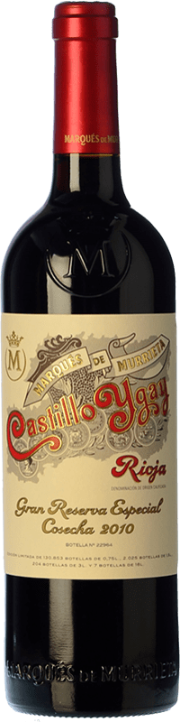 101,95 € | Red wine Marqués de Murrieta Castillo Ygay Especial Gran Reserva 2010 D.O.Ca. Rioja The Rioja Spain Tempranillo, Mazuelo Bottle 75 cl
