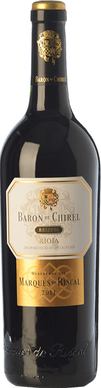 76,95 € Free Shipping | Red wine Marqués de Riscal Barón de Chirel Reserva D.O.Ca. Rioja The Rioja Spain Tempranillo, Cabernet Sauvignon Bottle 75 cl