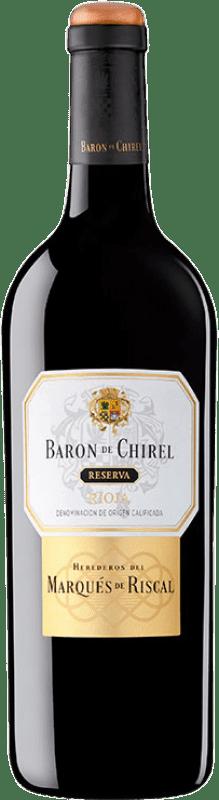 76,95 € Envoi gratuit   Vin rouge Marqués de Riscal Barón de Chirel Reserva D.O.Ca. Rioja La Rioja Espagne Tempranillo, Cabernet Sauvignon Bouteille 75 cl