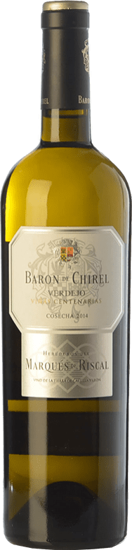 46,95 € | Vin blanc Marqués de Riscal Barón de Chirel Crianza I.G.P. Vino de la Tierra de Castilla y León Castille et Leon Espagne Verdejo Bouteille 75 cl