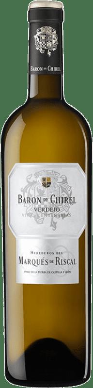 46,95 € | Vino blanco Marqués de Riscal Barón de Chirel Crianza I.G.P. Vino de la Tierra de Castilla y León Castilla y León España Verdejo Botella 75 cl