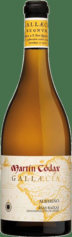 49,95 € 免费送货   白酒 Martín Códax Gallaecia D.O. Rías Baixas 加利西亚 西班牙 Albariño 瓶子 75 cl