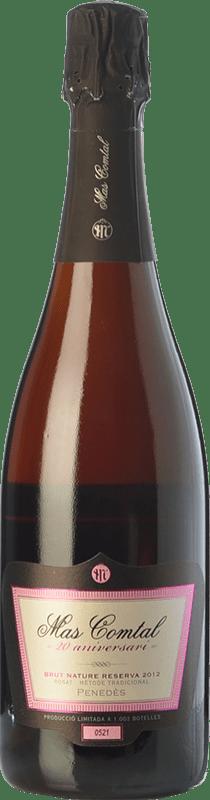 16,95 € Envío gratis | Espumoso rosado Mas Comtal 20 Aniversari Rosé Reserva D.O. Penedès Cataluña España Merlot Botella 75 cl