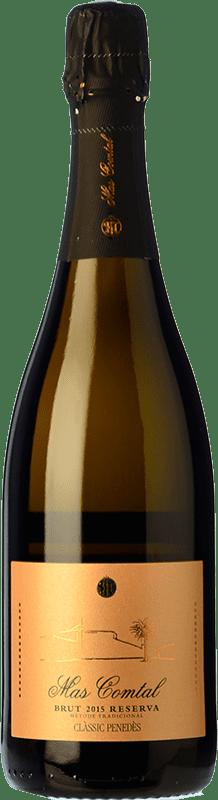 13,95 € Envío gratis | Espumoso blanco Mas Comtal Brut Reserva D.O. Penedès Cataluña España Xarel·lo, Chardonnay Botella 75 cl
