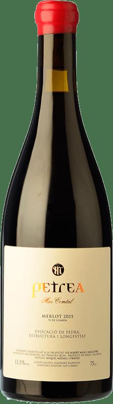 31,95 € Envío gratis | Vino tinto Mas Comtal Petrea Crianza D.O. Penedès Cataluña España Merlot Botella 75 cl