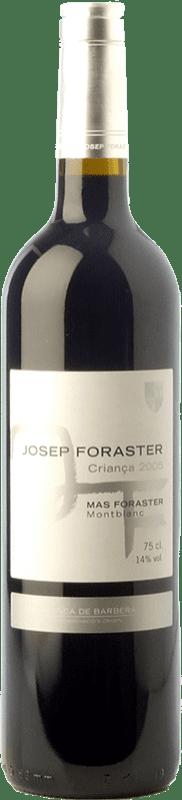 9,95 € | Red wine Josep Foraster Criança Crianza D.O. Conca de Barberà Catalonia Spain Tempranillo, Syrah, Cabernet Sauvignon Bottle 75 cl