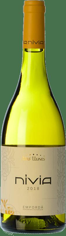 11,95 € | White wine Mas Llunes Nívia Crianza D.O. Empordà Catalonia Spain Samsó, Grenache White Bottle 75 cl