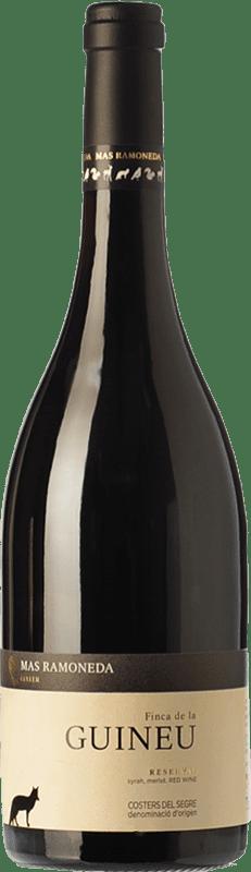 16,95 € Free Shipping | Red wine Mas Ramoneda Finca de la Guineu Reserva D.O. Costers del Segre Catalonia Spain Merlot, Syrah Bottle 75 cl