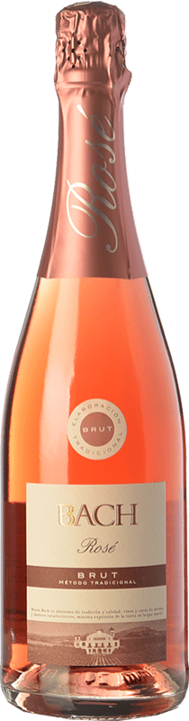 4,95 € Free Shipping | Rosé sparkling Bach Rosé Brut Joven D.O. Cava Catalonia Spain Grenache, Monastrell, Pinot Black Bottle 75 cl