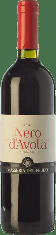 9,95 € | Red wine Masseria del Feudo I.G.T. Terre Siciliane Sicily Italy Nero d'Avola Bottle 75 cl