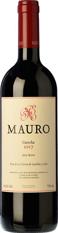 33,95 € Envoi gratuit | Vin rouge Mauro Crianza I.G.P. Vino de la Tierra de Castilla y León Castille et Leon Espagne Tempranillo, Syrah Bouteille 75 cl