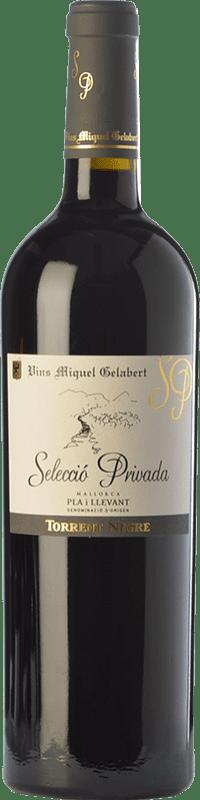 31,95 € 免费送货 | 红酒 Miquel Gelabert Torrent Negre Selecció Privada Crianza D.O. Pla i Llevant 巴利阿里群岛 西班牙 Cabernet Sauvignon 瓶子 75 cl