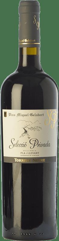 23,95 € | Red wine Miquel Gelabert Torrent Negre Selecció Privada Crianza D.O. Pla i Llevant Balearic Islands Spain Syrah Bottle 75 cl