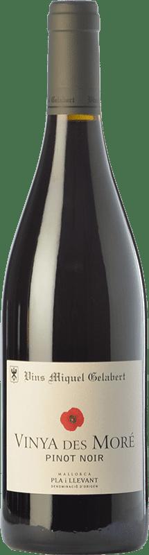 19,95 € 免费送货 | 红酒 Miquel Gelabert Vinya des Moré Crianza D.O. Pla i Llevant 巴利阿里群岛 西班牙 Pinot Black 瓶子 75 cl