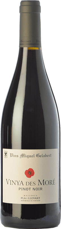 19,95 € Free Shipping | Red wine Miquel Gelabert Vinya des Moré Crianza D.O. Pla i Llevant Balearic Islands Spain Pinot Black Bottle 75 cl