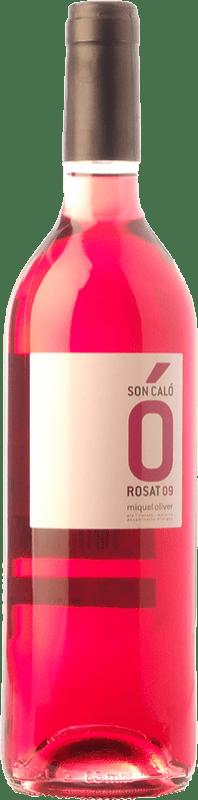 6,95 € Envío gratis | Vino rosado Miquel Oliver Son Caló Rosat D.O. Pla i Llevant Islas Baleares España Tempranillo, Callet, Fogoneu Botella 75 cl
