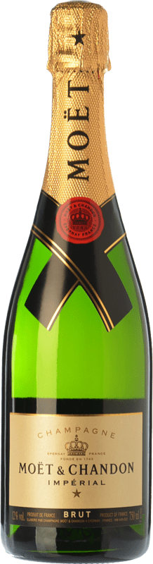 93,95 € | White sparkling Moët & Chandon Impérial Brut Reserva A.O.C. Champagne Champagne France Pinot Black, Chardonnay, Pinot Meunier Magnum Bottle 1,5 L