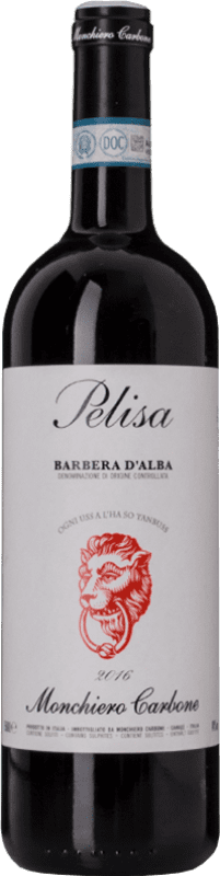 12,95 € Free Shipping | Red wine Monchiero Carbone Pelisa D.O.C. Barbera d'Alba Piemonte Italy Barbera Bottle 75 cl