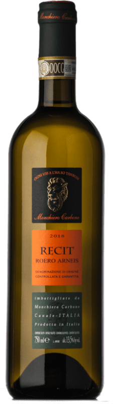 14,95 € Free Shipping | White wine Monchiero Carbone Recit D.O.C.G. Roero Piemonte Italy Arneis Bottle 75 cl