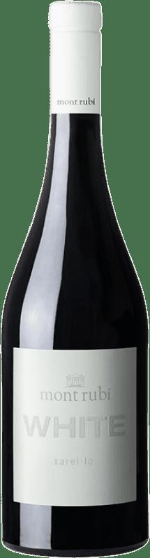 12,95 € Envío gratis | Vino blanco Mont-Rubí White D.O. Penedès Cataluña España Xarel·lo Botella 75 cl