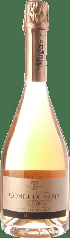 21,95 € 免费送货 | 玫瑰气泡酒 Muga Conde de Haro Rosé 香槟 D.O. Cava 加泰罗尼亚 西班牙 Grenache 瓶子 75 cl