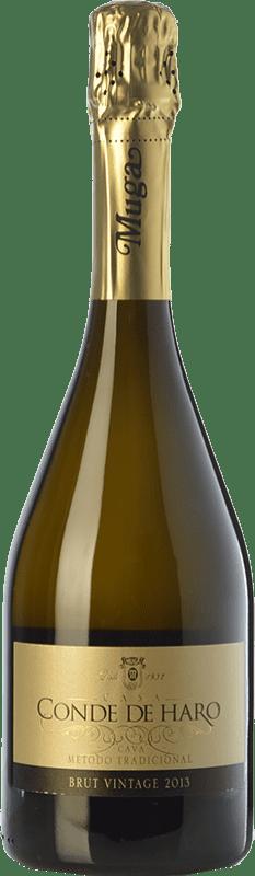 14,95 € 免费送货 | 白起泡酒 Muga Conde de Haro Vintage 香槟 D.O. Cava 加泰罗尼亚 西班牙 Viura, Malvasía 瓶子 75 cl