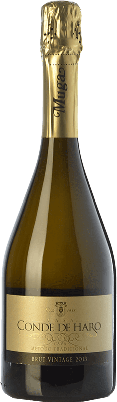 14,95 € Free Shipping | White sparkling Muga Conde de Haro Vintage Brut D.O. Cava Catalonia Spain Viura, Malvasía Bottle 75 cl