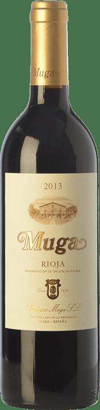 19,95 € Free Shipping | Red wine Muga Crianza D.O.Ca. Rioja The Rioja Spain Tempranillo, Grenache, Graciano, Mazuelo Half Bottle 37 cl