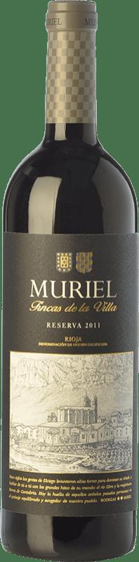 9,95 € 免费送货   红酒 Muriel Fincas de la Villa Reserva D.O.Ca. Rioja 拉里奥哈 西班牙 Tempranillo 瓶子 75 cl