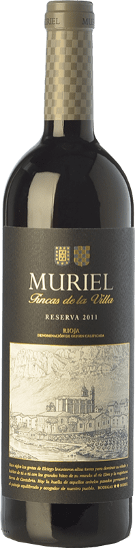 9,95 € Free Shipping | Red wine Muriel Fincas de la Villa Reserva D.O.Ca. Rioja The Rioja Spain Tempranillo Bottle 75 cl
